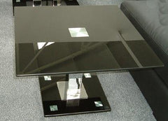 VO1 Side Table in Black Glass  side table- Blue Ocean Interiors