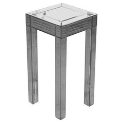Small Mirrored Pedestal  side table- Blue Ocean Interiors