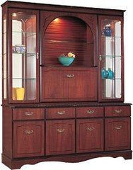 Mahogany Display Unit Arch Centre,Cocktail Cabinet with Mirror Back  display unit- Blue Ocean Interiors