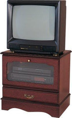 Mahogany Small Square TV/Video Cabinet  tv stand- Blue Ocean Interiors