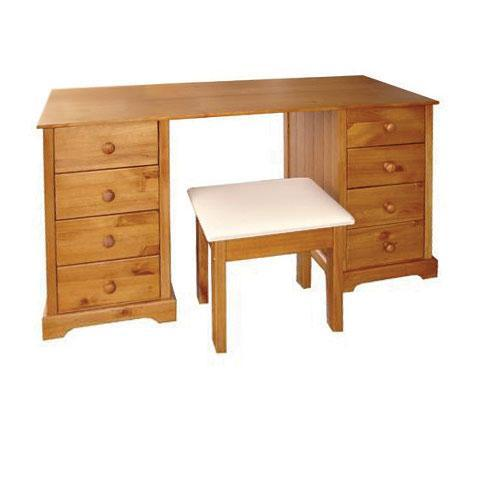 LPD FurnitureBaltic Dressing Table & Stool in Antique Pine FinishBlue Ocean Interiors