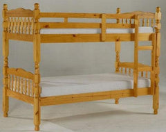Melissa 3'0'' Bunk Bed in  Solid Pine Honey Stain Finish  bunk bed- Blue Ocean Interiors