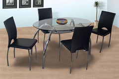 Heartlands FurnitureCorfu Clear Glass Dining Table with 4 ChairsBlue Ocean Interiors