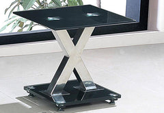 Paxel Lamp Table in Black Glass  side table- Blue Ocean Interiors