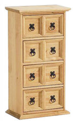 Heartlands FurnitureCorona CD Storage Unit in Distressed Waxed Light Pine 4x2Blue Ocean Interiors