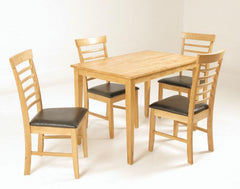 Hanover Solid Hardwood Table with 4 Chairs  wood dining table and chairs- Blue Ocean Interiors