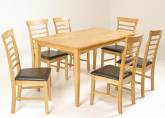 Hanover Solid Hardwood Table with 6 Chairs  wood dining table and chairs- Blue Ocean Interiors