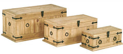 Heartlands FurnitureCorona Trunk Set Monterey in Distressed Light Waxed PineBlue Ocean Interiors