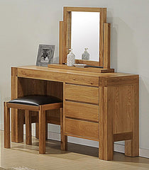 Victoria Dressing Table in Solid Oak with Oak Veneer  dressing table- Blue Ocean Interiors