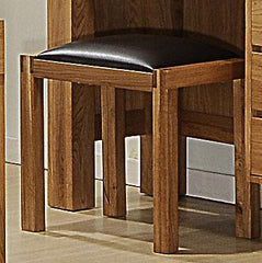 Victoria Stool in Solid Oak with Oak Veneer  dressing table- Blue Ocean Interiors