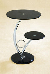 Hawii SideTable in Black Glass  side table- Blue Ocean Interiors