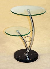 Hawii SideTable in Clear Glass  side table- Blue Ocean Interiors