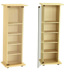 Santos CD/DVD Storage Unit in Beech wood Finish  cd dvd storage- Blue Ocean Interiors