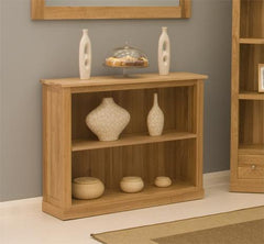 Mobel Low Bookcase in Solid Oak  bookcase- Blue Ocean Interiors