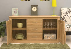Mobel Large Sideboard with 3 Drawers in Solid Oak  sideboard- Blue Ocean Interiors