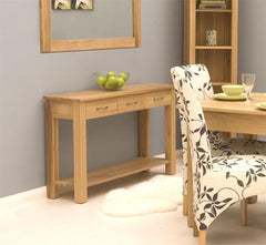 Mobel Console Table in Solid Oak  console table- Blue Ocean Interiors