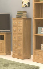 Mobel Multi Drawer DVD /CD Storage Cupboard in Solid Oak  cd dvd storage- Blue Ocean Interiors