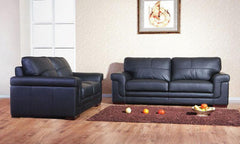 Heartlands FurnitureEnna Suite 3+2+1 in Leather & PU Finish 3 Colours AvailableBlue Ocean Interiors