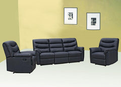 Radini Recliner 3+1+1 in PU Finish 2 Colours Available  leather sofa- Blue Ocean Interiors