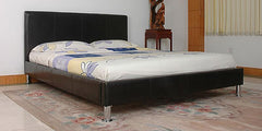 Kenneth 5'0'' Kingsize Bedstead in PU Finish 3 Colours Available  leather bed- Blue Ocean Interiors
