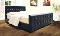 Heartlands FurnitureDakar 4'6'' Double Bedstead in PU Finish 2 Colours AvailableBlue Ocean Interiors