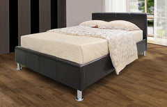 Kenneth Storage 4'6'' Double Bedstead in PU Finish 2 Colours Available  leather bed- Blue Ocean Interiors