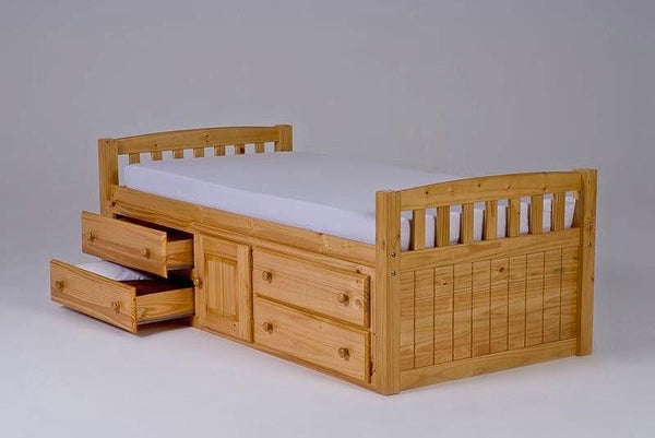 Heartlands FurnitureCaptain 3'0'' Single Bedstead with Storage in Pine FinishBlue Ocean Interiors