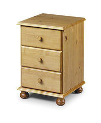 Pickwick Solid Pine 3 Drawer Bedside Chest  bedside table- Blue Ocean Interiors