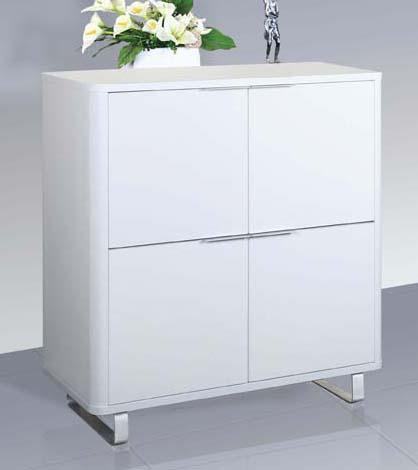 LPD FurnitureAccent 4 Door Storage Unit in High Gloss WhiteBlue Ocean Interiors