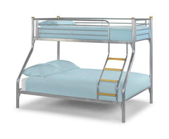 Julian BowenAtlas Triple Sleeper Bunk Bed Aluminium FinishBlue Ocean Interiors