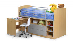 Leo Sleeper in Maple and Aluminium Finish  bunk bed- Blue Ocean Interiors