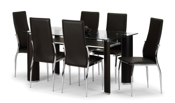 Julian BowenBoston Dining Table with 6 ChairsBlue Ocean Interiors