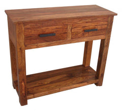 Madras Console Table in Shesham Wood  console table- Blue Ocean Interiors