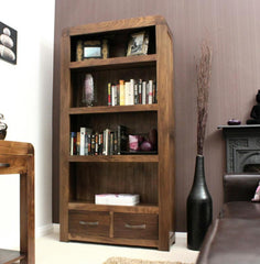 Shiro Large Bookcase In Walnut  bookcase- Blue Ocean Interiors