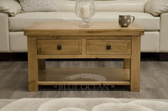 Home StyleDeluxe Rustic Oak Coffee TableBlue Ocean Interiors