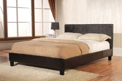 "Haven Double 4'6"" Double Bedframe in Black or Brown Faux Leather  leather bed- Blue Ocean Interiors"
