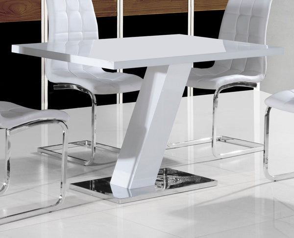 GiataliaAliyah Dining Table in White GlossBlue Ocean Interiors