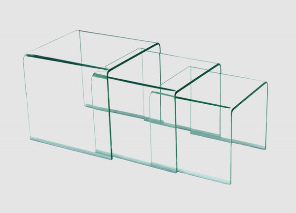 Heartlands FurnitureAngola Nest of 3 Tables in Clear GlassBlue Ocean Interiors