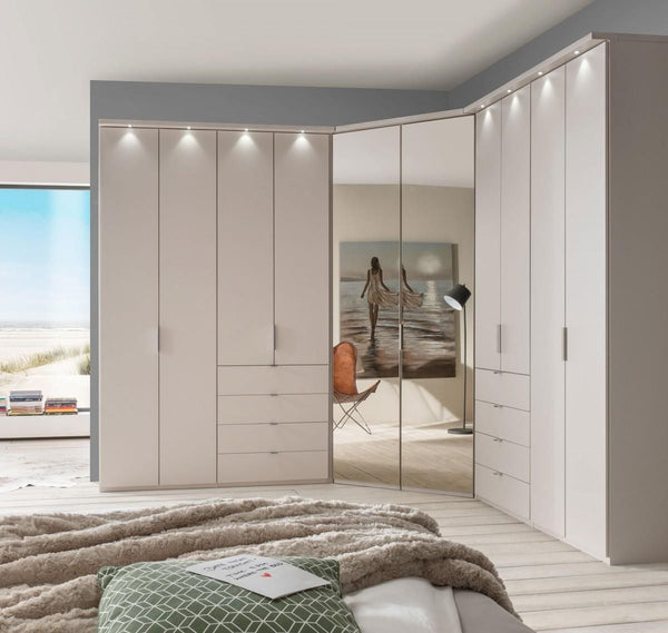 WiemannBoston Combi Wardrobe W198cm with Bi Fold DoorsBlue Ocean Interiors
