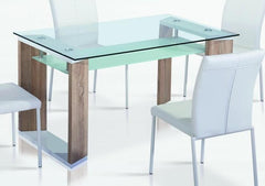 Zola Glass Dining Table  glass dining table- Blue Ocean Interiors