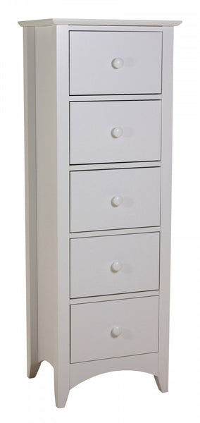 Heartlands FurnitureChelsea 5 Drawer Tall Boy Chest in WhiteBlue Ocean Interiors