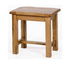 Riviera Rustic Oak Dressing Table Stool  dressing table- Blue Ocean Interiors