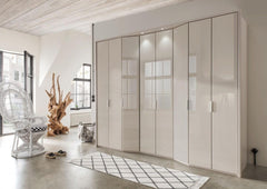 WiemannBoston Combi Wardrobe W219cm with Bi Fold Doors and Angled ElementsBlue Ocean Interiors