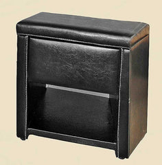 Odessa 1 Drawer Nightstand in PU Finish 2 Colours Available  bedside table- Blue Ocean Interiors