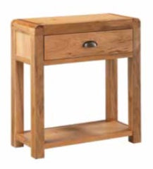 Oakridge Waxed 1 Drawer Hall Table