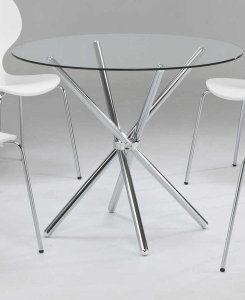 LPD FurnitureCasa Clear Glass Dining Table OnlyBlue Ocean Interiors