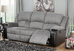 Heartlands FurnitureEarlsdon Fabric and PU Leather 3 Seater ReclinerBlue Ocean Interiors