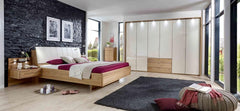 Serena Wardrobe with Bi-Fold Panorama Doors in Magnolia Glass and Mirror Doors  wardrobe- Blue Ocean Interiors