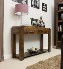 Shiro Console Table In Walnut  console table- Blue Ocean Interiors