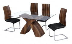 Holte Glass Dining Table with 6 Chairs  glass dining tables and chairs- Blue Ocean Interiors